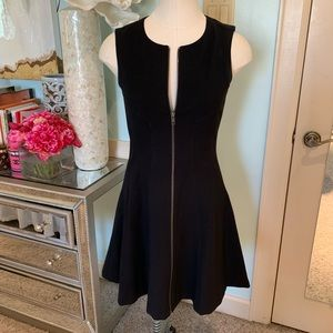 Theory Black Zipper Front Dress, Sz 2